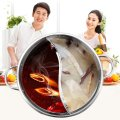 30CM Easy Clean Stainless Steel Hot Pot Shabu Dual Site Induction Cooking Pot
