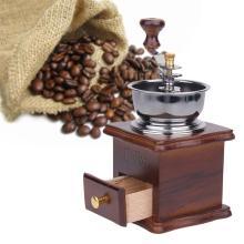 alloet Manual Coffee Bean Grinder Retro Wood Design Vintage Wooden Coffee Mill Maker Grinders Grinding Machinen Kitchen Tool new