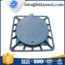 C250 Iron Material Manhole Cover with frame