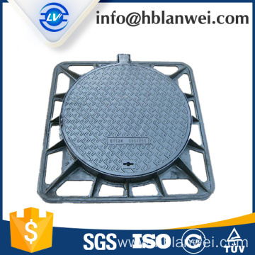 round cover and square frame manhole cover