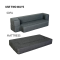 Folding Bed Couch Dark Gray Queen