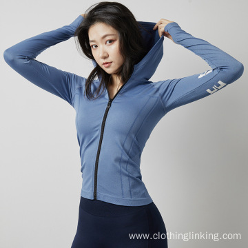Womens Full Zip Detail Running Track Jacket