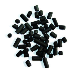 Ketone adsorption and recovery pellet carbon
