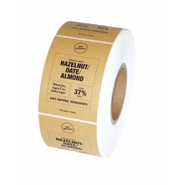 Custom Kraft Paper Self-adhesive Label Sticker