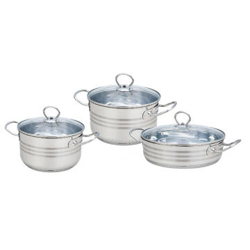 6 Pieces Cookware Set With Liner Handle