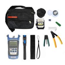12pcs FTTH Fiber Optic Tools Kit with Fibra Optica Power Meter Visual Fault Locator Kit de fibre optique