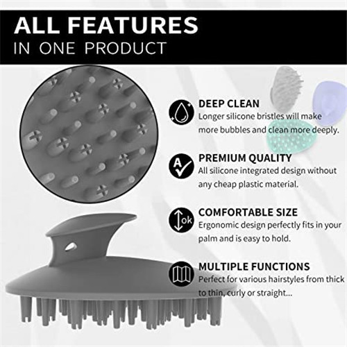 BPA Free Shampoo Brush Hair Scalp Massager
