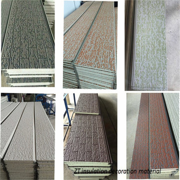 Exterior insulation decorative integral wall cladding