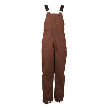Khaki Winter Bib Pants
