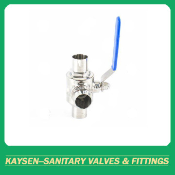 Sanitary Three-way Weld Ball Valve ISO/IDF/SMS/3A/DS