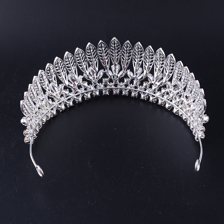 Fashion Leaves Crystal Crown Bridal Headpieces