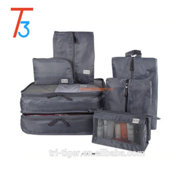 7PC Travel Bags Waterproof Clothes Storage Packing Cube Organizer