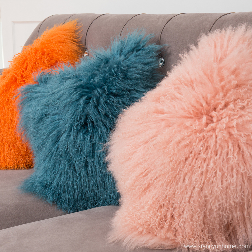 Lamb Fur Pillow Double Sided Fur Many Colors