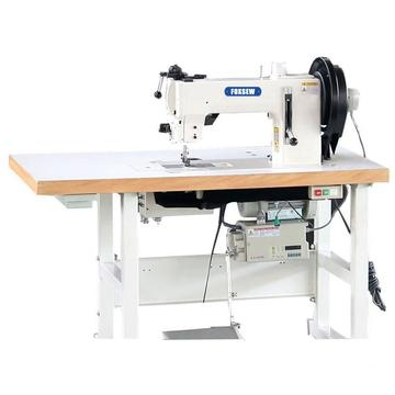 Flat Bed Compound Feed Walking Foot Heavy Duty Lockstitch Sewing Machine