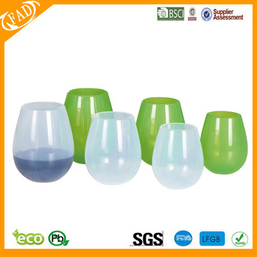 Flexible Stemless silicone Red Wine Cups