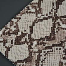 Snake Skin Embossed PVC Artificial Leather for Handbags