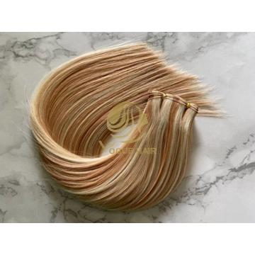 Piano Color Remy Cuticle Hand Tied Weft