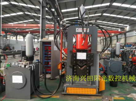 shearing machine for angle steel tower