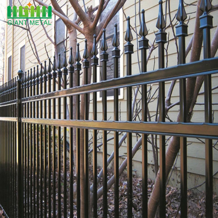 PVC-coated  Wrought Iron Zinc Steel Picket Fence