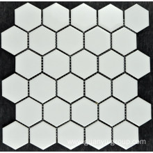 Pure White Small Hexagonal Porcelain Mosaic Tile