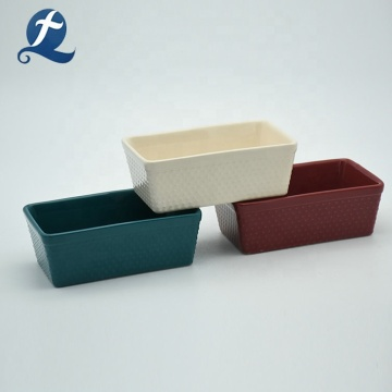 Factory direct sale bakeware rectangle ceramic cake baking pans