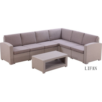 wholesale good quality rattan garden furniture wicker sofa