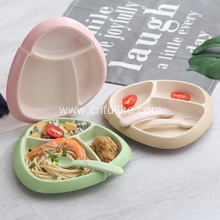 Bamboo Fiber Dinner Plates for Children