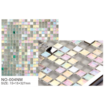 Ice series luxury glitter rainbow glass mosaic tiles