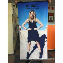 Custom promotional full color polyester indoor banner