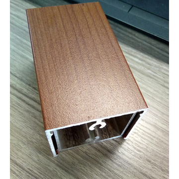Aluminium Extrusion Profil Wood Grain / Anodizing