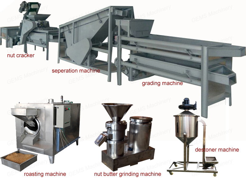 400kg/h Macadamia Nut Cracker Cracking Machine