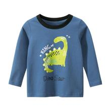 FOCUSNORM Fashion Infant Baby Boys T Shirts Tops Cartoon Animal Print Long Sleeve Pullover Tops Outfits 1-9Y