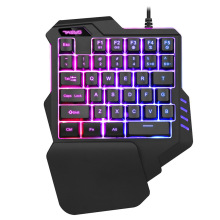 Ergonomic Design Single Hand USB Wired 35 Keys Gaming Keypad Keyboard RGB LED Backlight Keyboard For G30 PUGB LOL