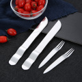 Stainless steel fruit cake knife and fork