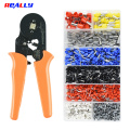 Ferrule Crimping Tool Kit AWG23-7 Self-Adjustable Ratchet Crimper Plier Set With 1200PCS Wire Terminal Wire End Ferrules