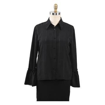 Jacquard Shirts Woman Blouse Ladies Tops