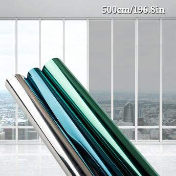40/80/90*500 CM window film glass stickers Reflective UV Sunscreen self adhesive mirror film heat transfer vinyl