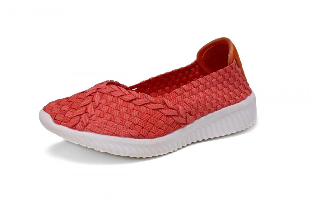 Delicate Red Elastic Woven Pumps