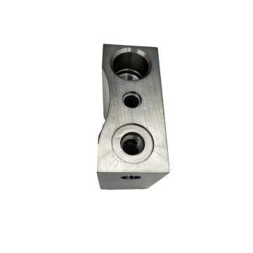 CNC Machined Steel SHaped Cylinder Valve Block