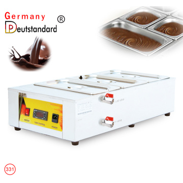 Chocolat Melting Pot Digital Control Chocolate Tempering Machine 3 Tanks