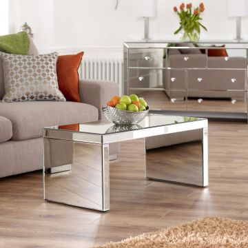 Venetian Mirrored Small Coffee Table
