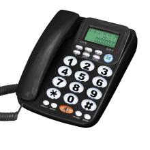 Big Button Corded Phone for Elderly Caller ID Landline Telephone for Seniors Amplified Phones for Hearing Impaired Seniors