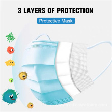Disposable  3-Layers Non-Wove Mouth Masks