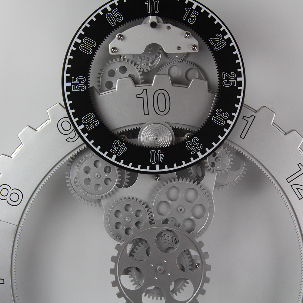 modern contemporary mechanical gear wall clocks