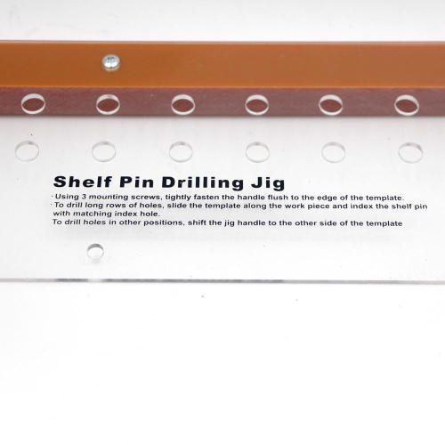 Drilling Jig for Aligning Shelf Pin Holes