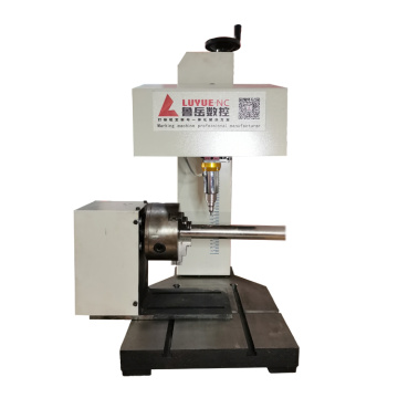 High precision cnc desktop Metal rotary Dot peen marking Machine