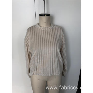 Stripe round neck and long sleeves