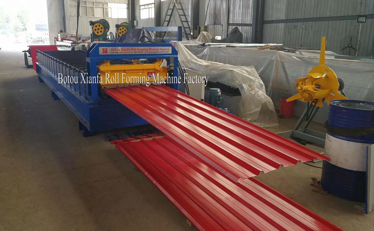 Building Material Metal Roof Tile Machine