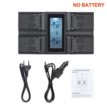 Andoer NP-F970 4-Channel Digital Camera Battery Charger for Sony NP-F550 F750 F950 NP-FM50 FM500H QM71 with DC Car Charger