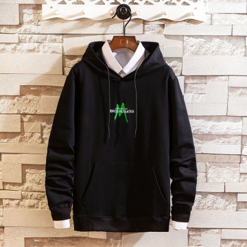 Men's fashion polyester cotton hooded sweatshirt